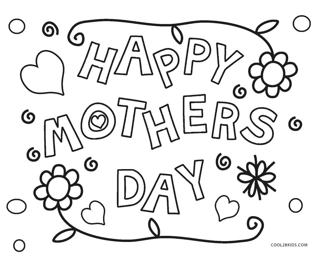 Mothers Day Coloring Pages Printable