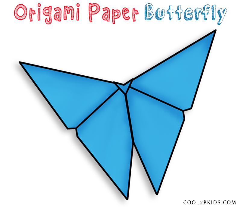 How To Make A Traditional Origami Butterfly - Folding Instructions ... | 700x800