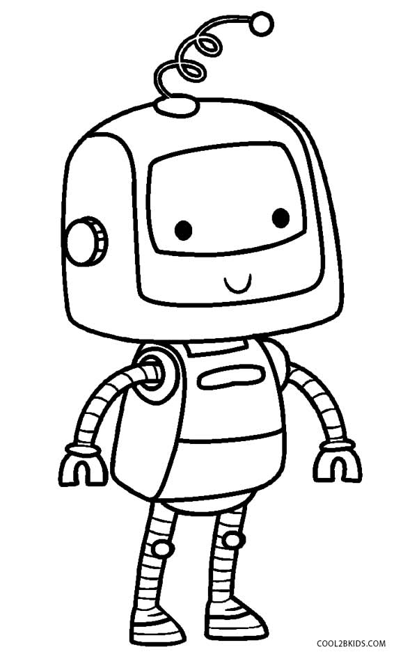 Robot coloring pages for preschoolers