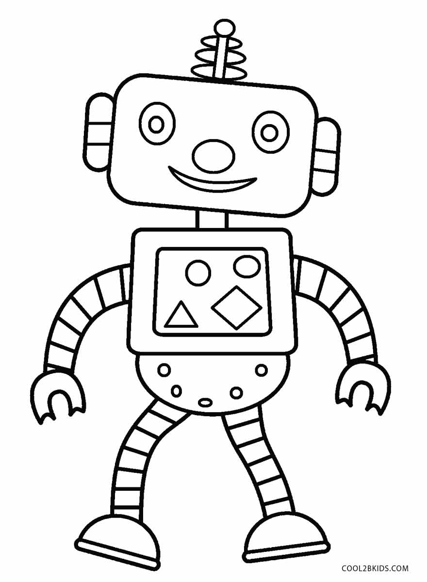 Geeky image regarding printable robot