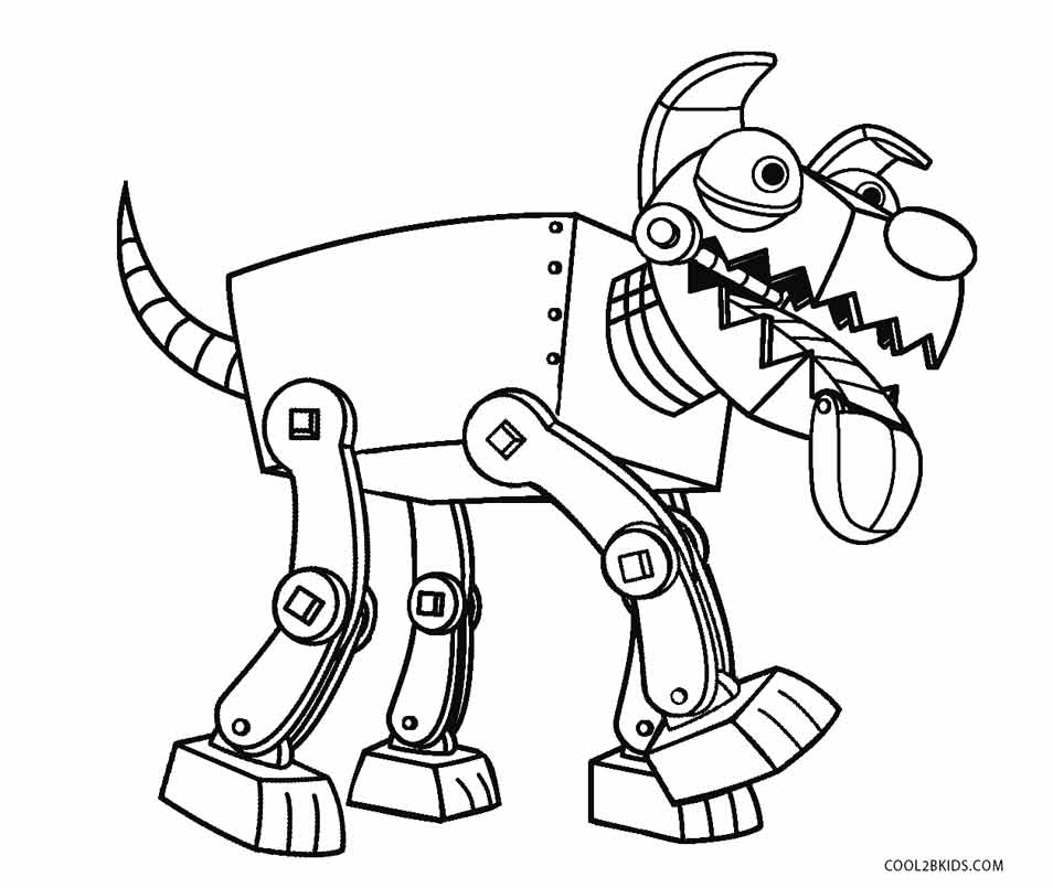 Robot dog coloring pages
