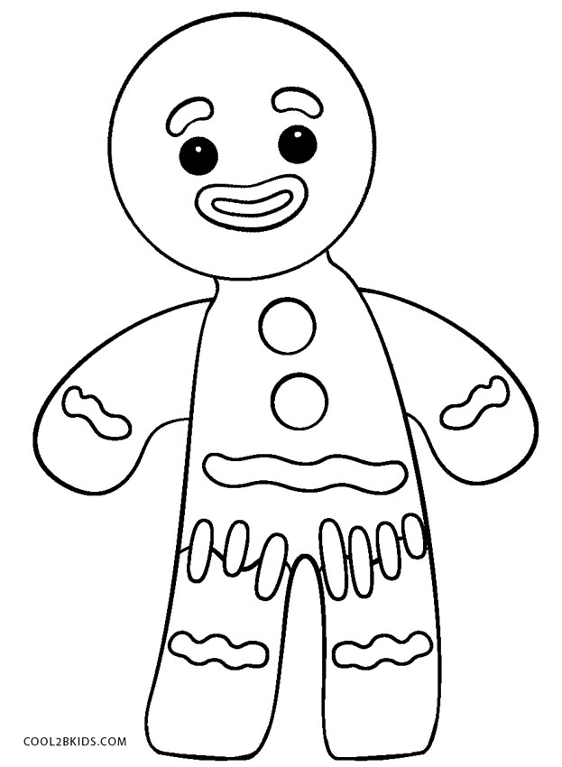 ginger man coloring pages - photo#30