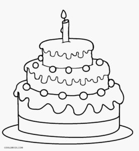 1st Birthday Cake Coloring Page