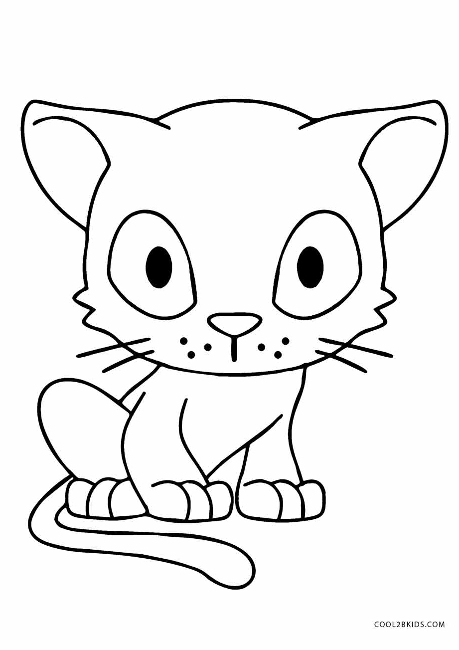 Anime kittens coloring pages ~ Free Printable Cat Coloring Pages For Kids | Cool2bKids