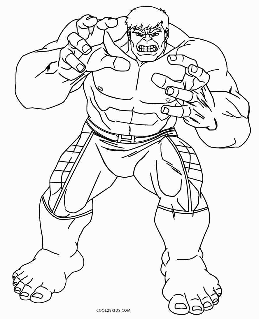 Lovely Hulk Coloring Pages