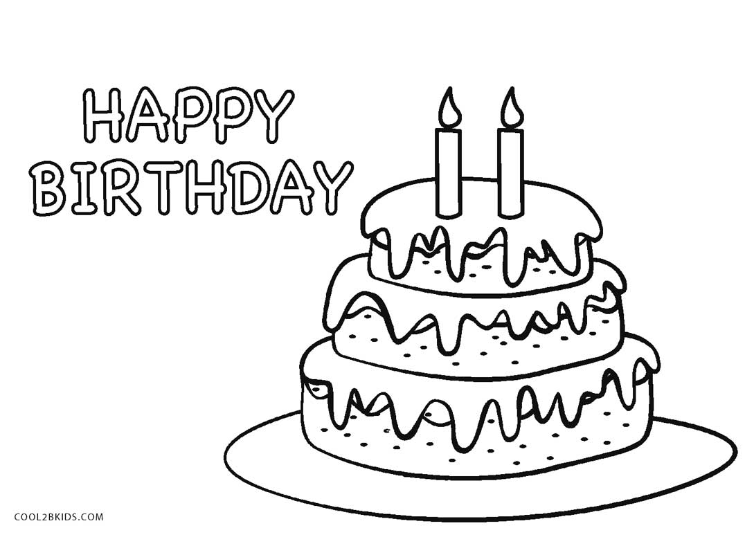 It's just a picture of Ambitious Coloring Pages Cake