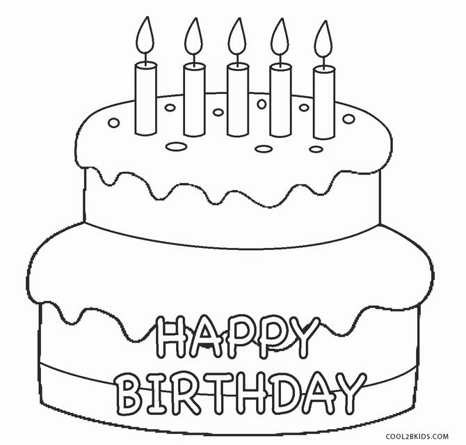Free Printable Birthday Cake Coloring Pages For Kids