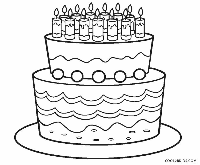 Peachy Free Printable Birthday Cake Coloring Pages For Kids Cool2Bkids Funny Birthday Cards Online Overcheapnameinfo