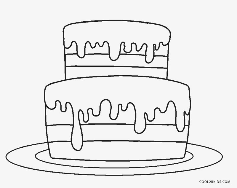 Birthday Cake No Candles Coloring Page