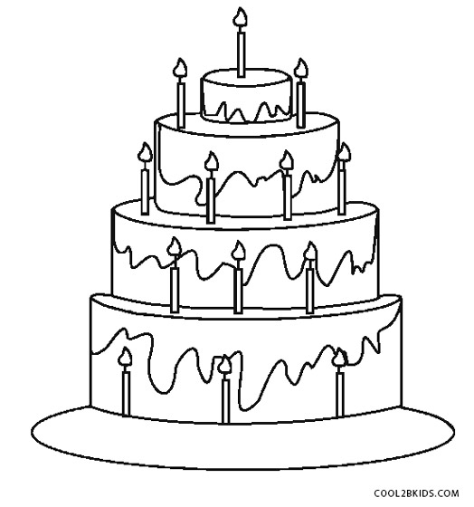 wedding cake template print free printable birthday cake coloring pages for 26237