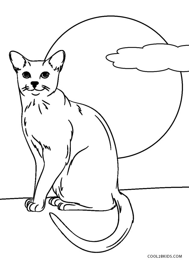 Black-Cat-Coloring-Pages