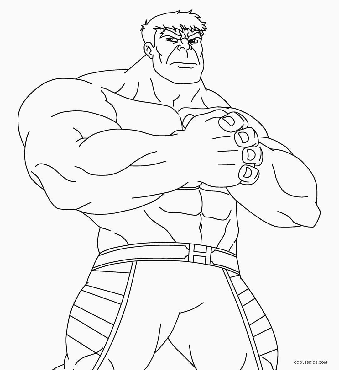Free coloring pages incredible hulk - Free Hulk Coloring Pages