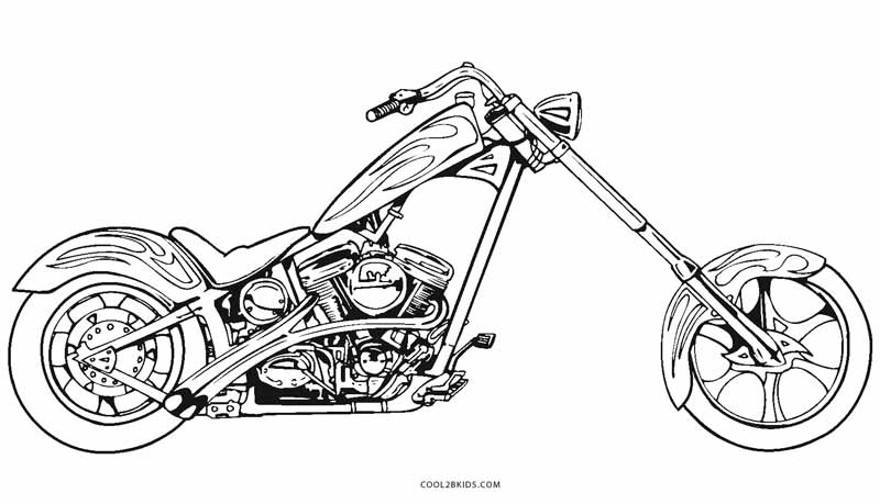 free biker coloring pages - photo#4