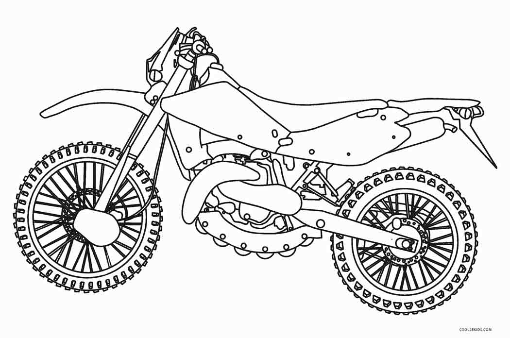 Free Printable Motorcycle Coloring