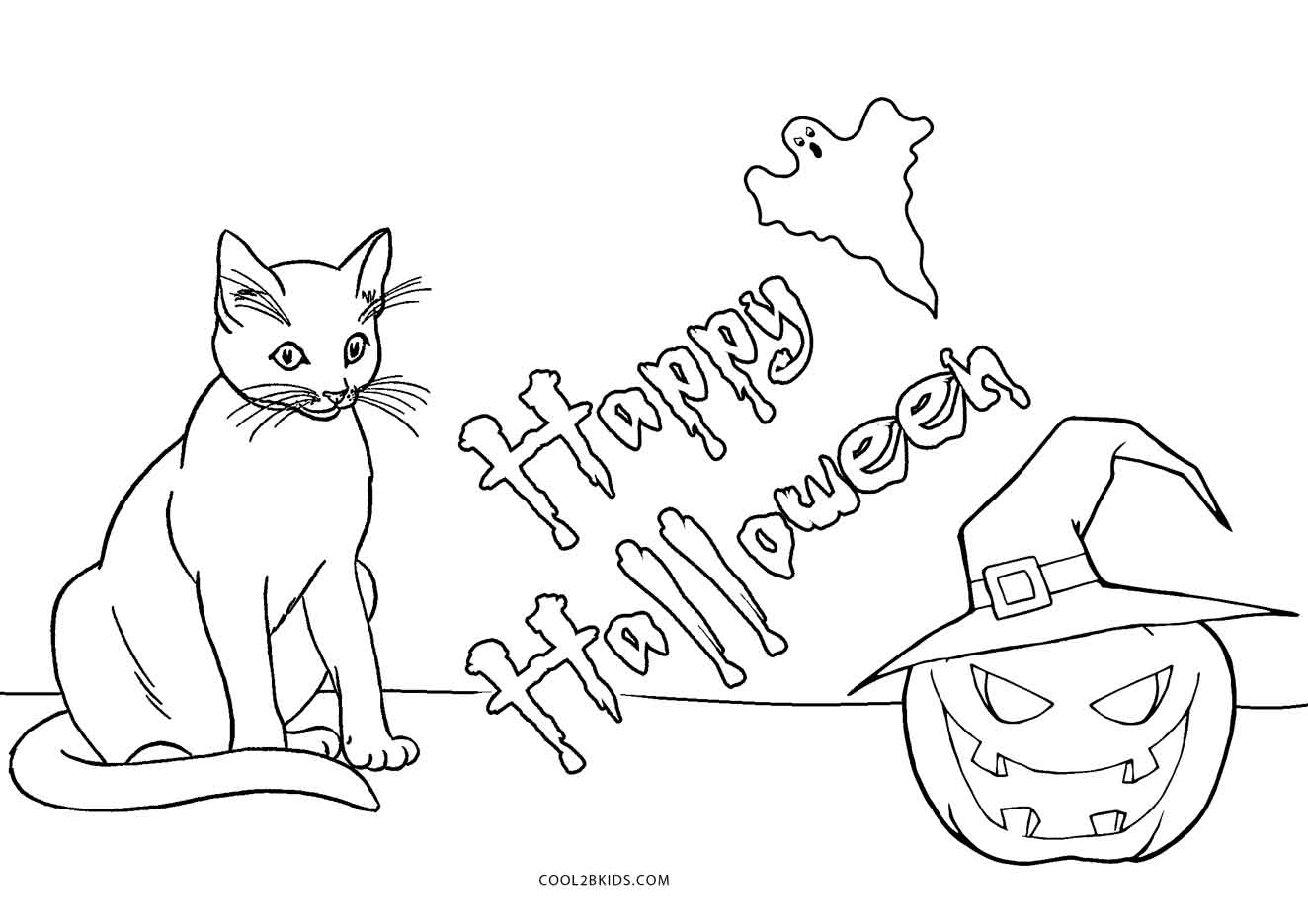 Www Free Kids Coloring Pages Of Cats