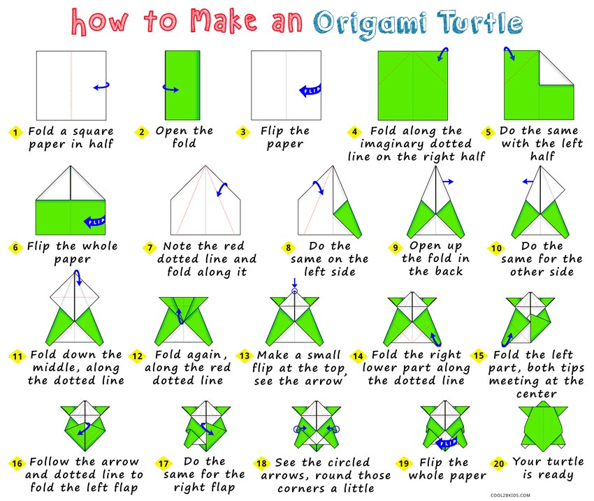 How To Make An Origami Turtle