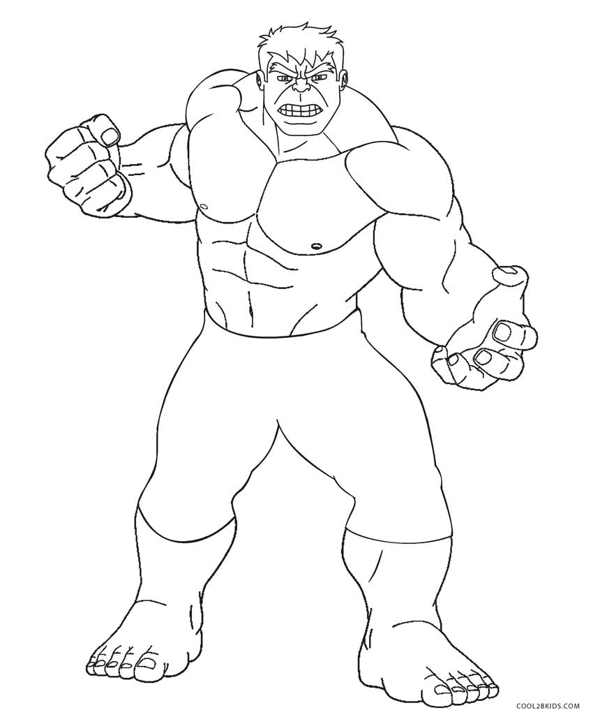 coloring pages incredible hulk - photo#1