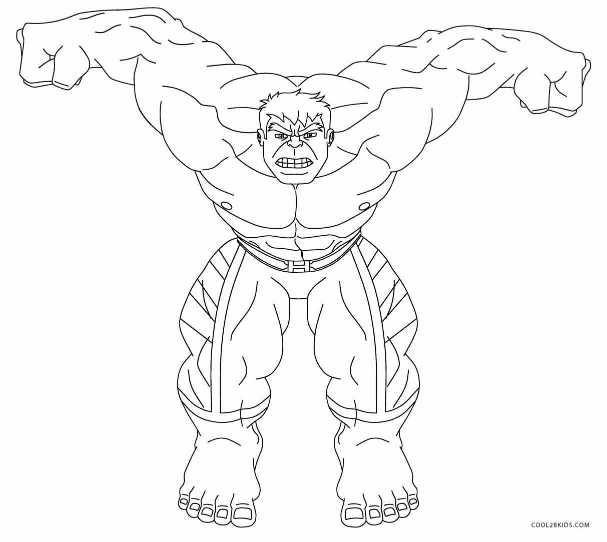coloring pages incredible hulk - photo#30