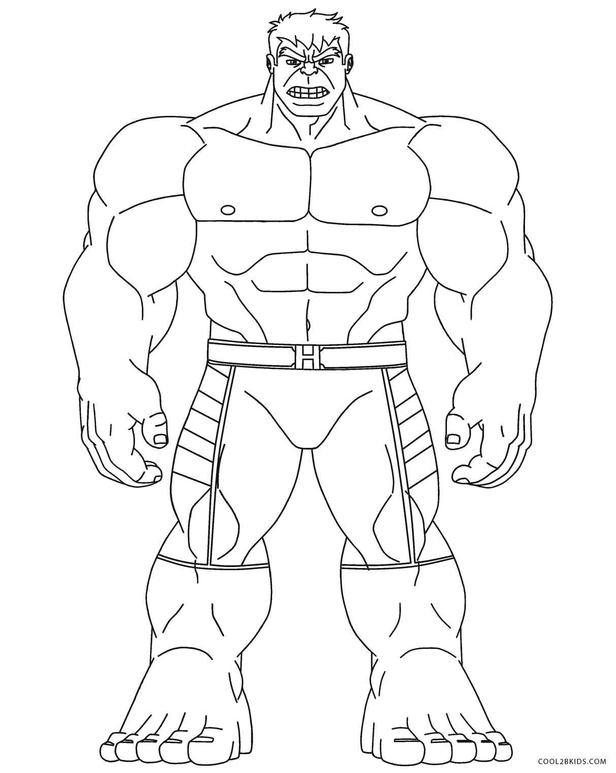 coloring pages incredible hulk - photo#4