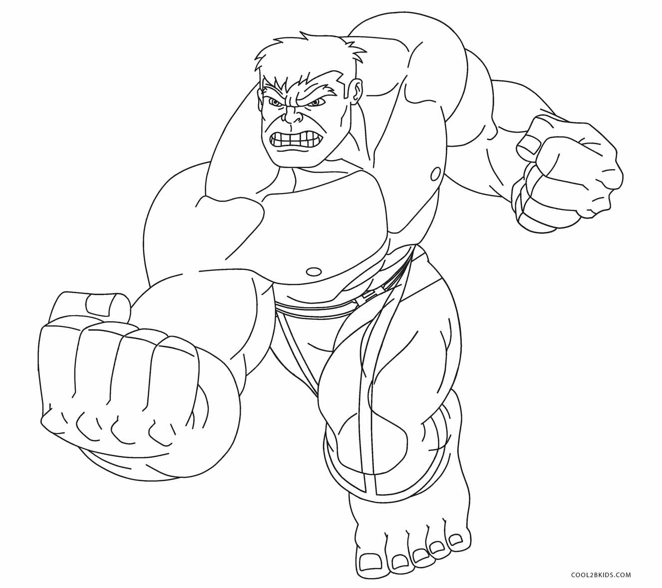 Incredible Hulk Smash Coloring Pages