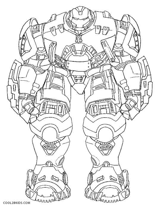 Hulkbuster Coloring Pages Printable Ideas