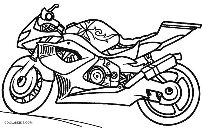free biker coloring pages - photo#19