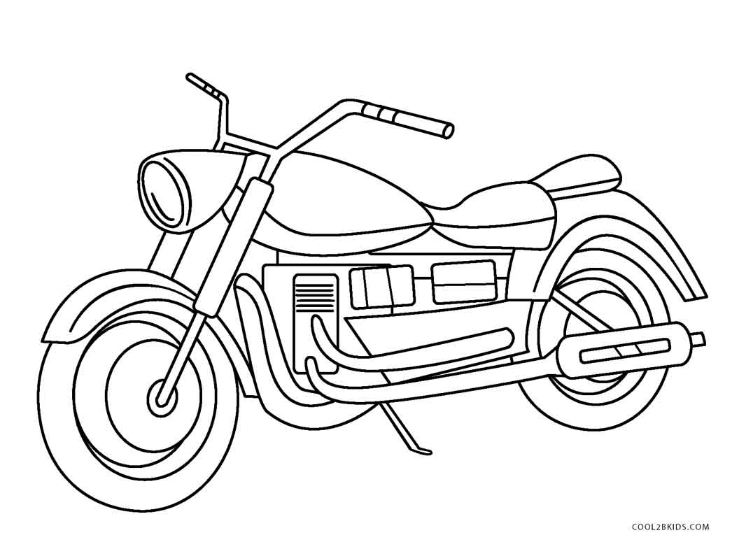 free biker coloring pages - photo#38