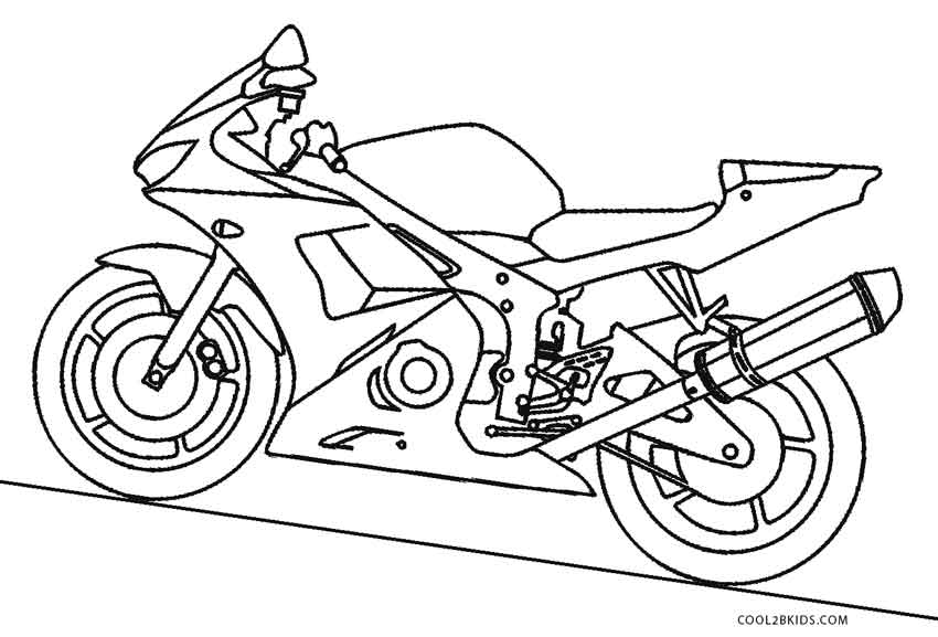 free biker coloring pages - photo#28