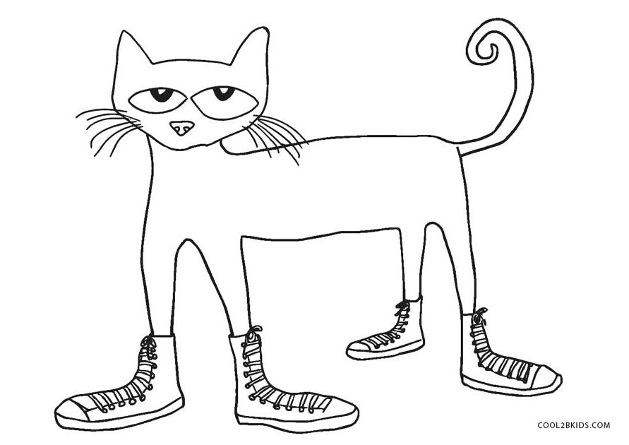 Image Result For Pete Cat Coloring Page Pete Cat Picture