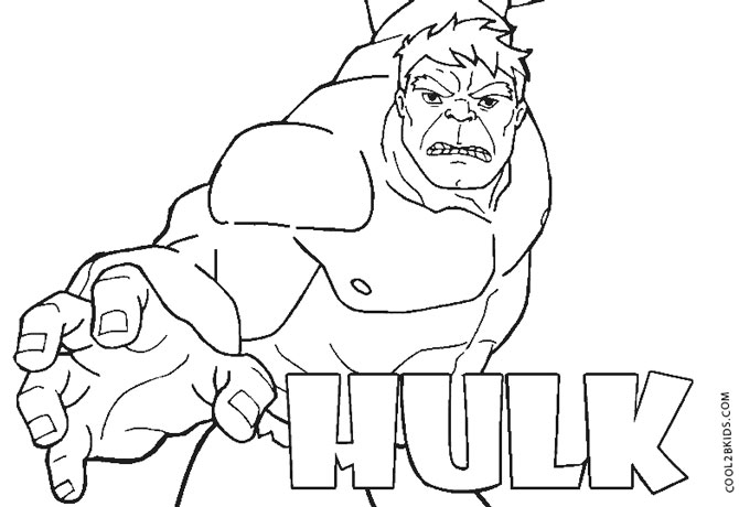hulk coloring pages - photo #40
