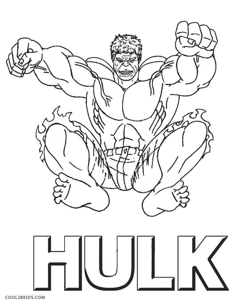 coloring pages incredible hulk - photo#11