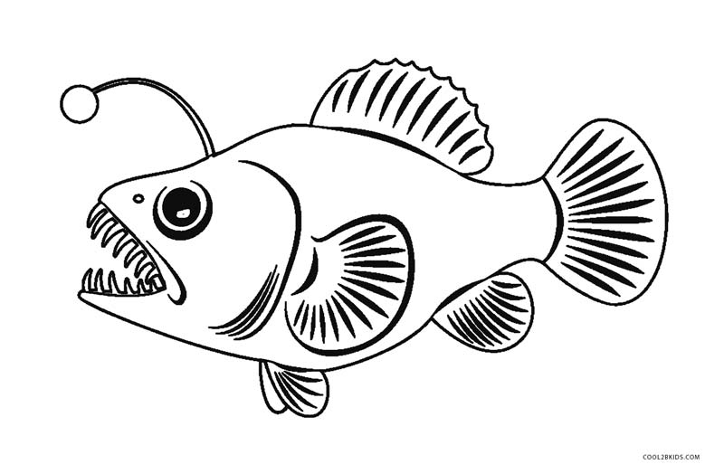 Coloring Picture For Kids Fish