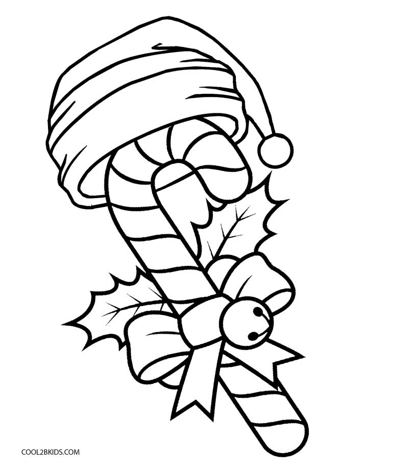 Delightful Candy Cane Coloring Page Pictures