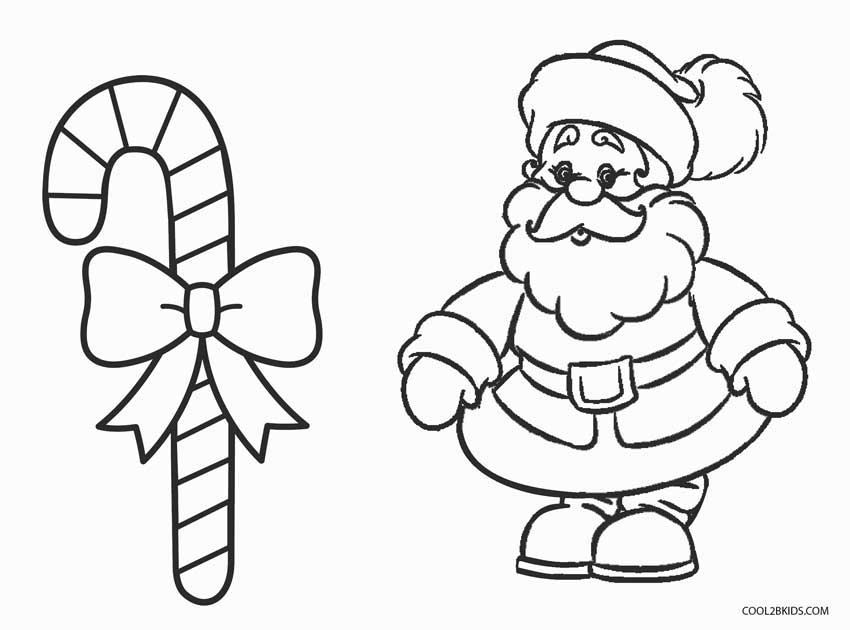 Beautiful Christmas Candy Cane Coloring Pages