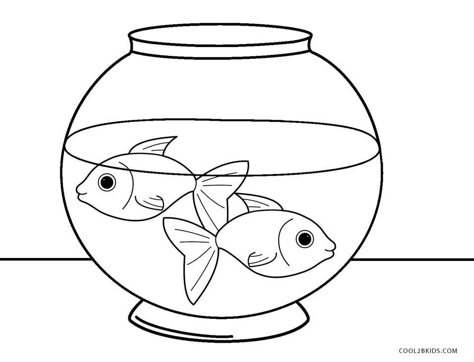Fish bowl coloring page coloring page for Empty fish bowl coloring page