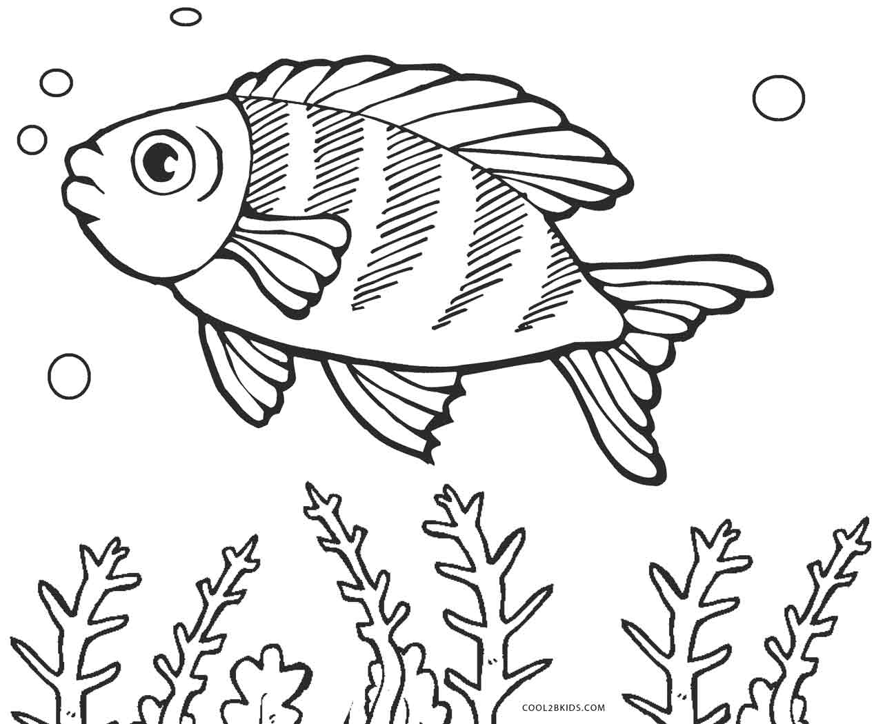 Free printable fish coloring pages for kids cool2bkids for Printable fish coloring pages