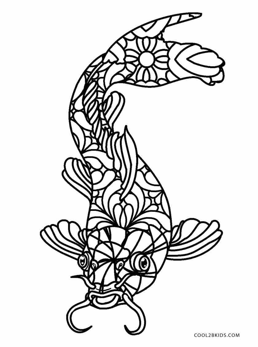 Free printable fish coloring pages for kids cool2bkids for Adult fish coloring pages