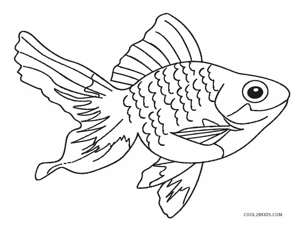 Free printable fish coloring pages for kids cool2bkids for Color pages of fish