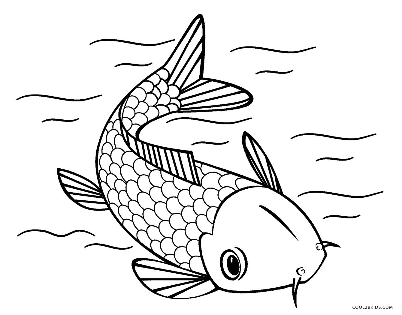 Free printable fish coloring pages for kids cool2bkids for Free coloring fish pages