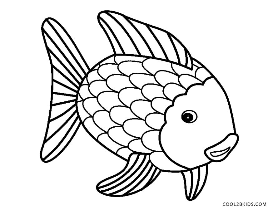 rainbow fish coloring pages - photo#20