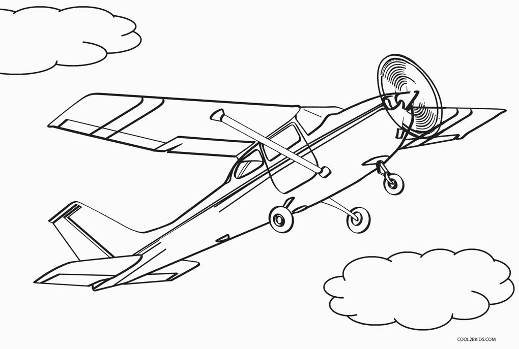 bi plane coloring pages - photo#22
