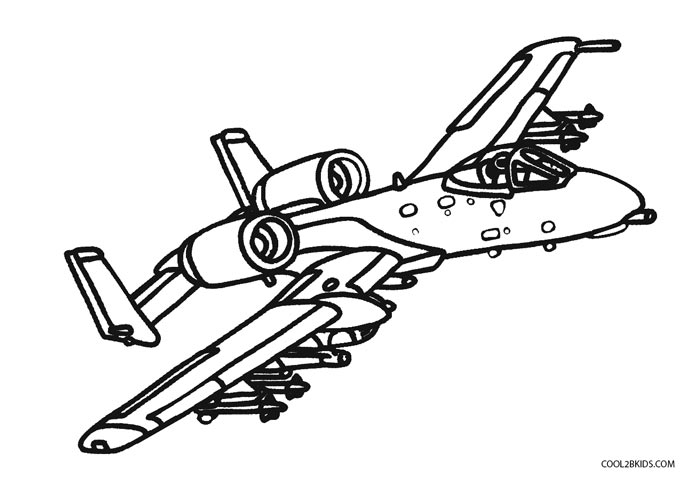 Airplane Coloring Page Printable