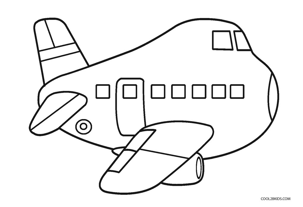 Airplanes - Free Colouring Pages