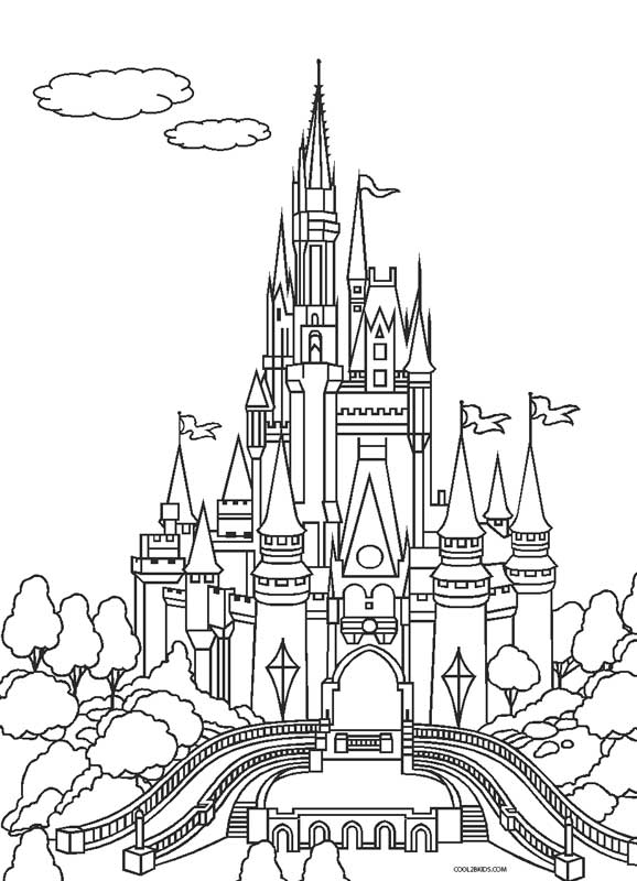 coloring pages of castles - photo#36