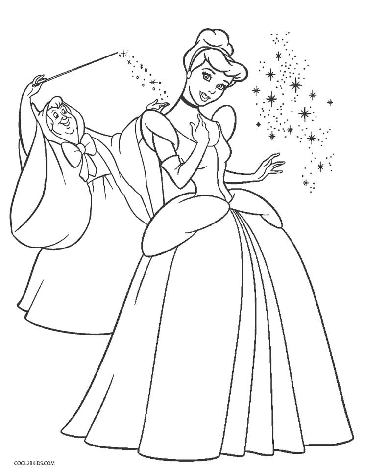 Free Printable Cinderella Coloring Pages For Kids | Cool2bKids