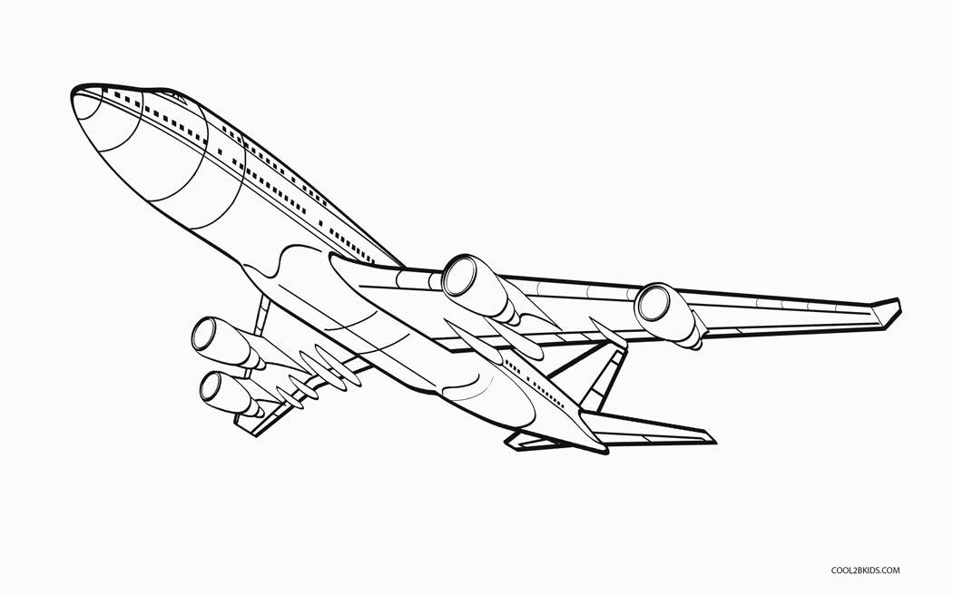 airplain coloring pages | Free Printable Airplane Coloring Pages For Kids | Cool2bKids