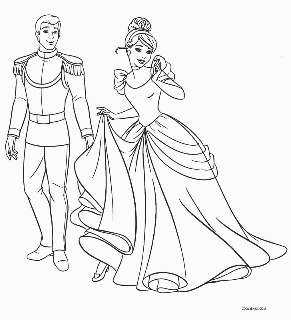 Kids coloring pages free printable coloring pages ~ Free Printable Cinderella Coloring Pages For Kids | Cool2bKids