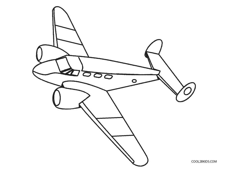 bi plane coloring pages - photo#26