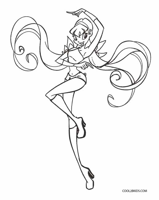 the winx club coloring pages