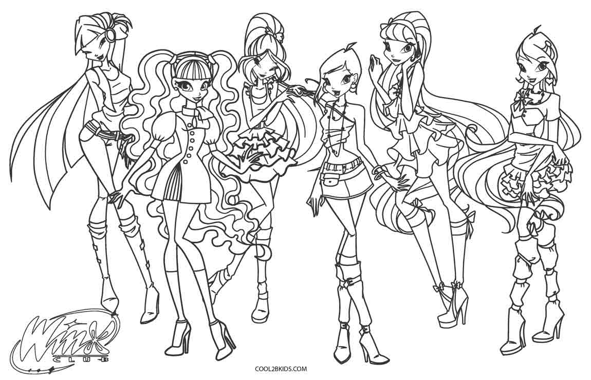 Winx Club Coloring Pages Free Printable Winx Coloring Pages For Kids  Cool2Bkids